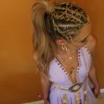 frankie flanagan adilla festival hair chained chains gold accessories